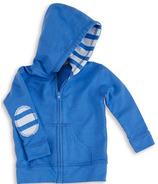 aden + anais Long Sleeve Jersey Hoodie Ultramarine