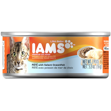 Iams Cat Food Pate With Select Oceanfish CASE of 12