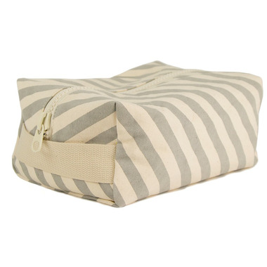 Fluf Grey Stripe Travel Case