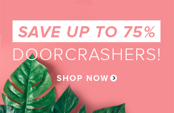 Save up to 75% on Doorcrashers
