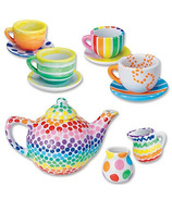 Mindware Paint-Your-Own Porcelain Tea Set