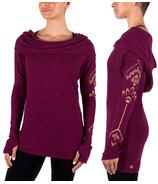 Gaiam Emery Cowl Top Bright Wine