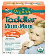 Hot-Kid Toddler Mum-Mum Organic Strawberry Rice Biscuits