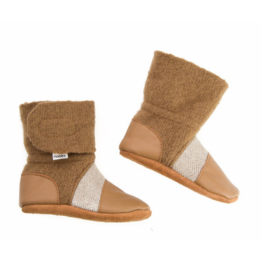 Nooks Design Felted Wool Booties Sand