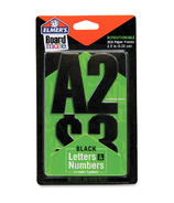 Elmer's Black Letters & Numbers Stickers