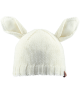 Bedford Road Off White Knitted Bunny Ears Hat