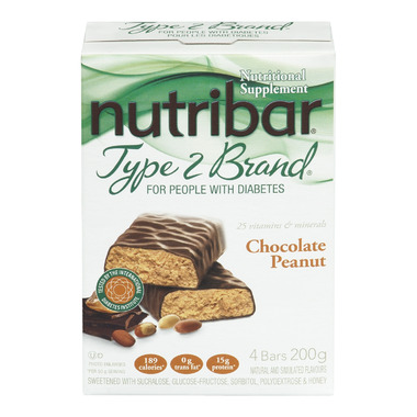 Nutribar Type 2 Brand Chocolate Peanut Bars