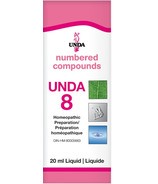 UNDA Numbered Compounds UNDA 8 Homeopathic Preparation