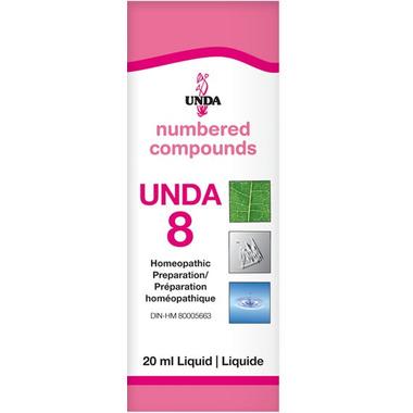 UNDA Numbered Compounds UNDA 8 Homeopathic Preparation