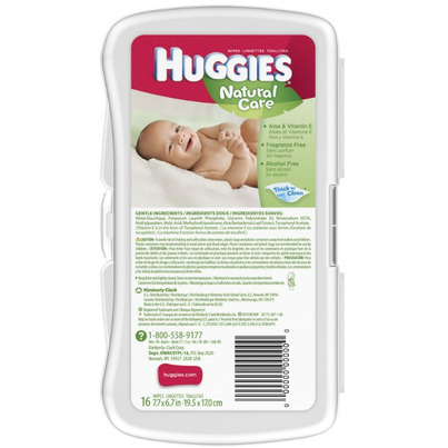 Buy Huggies Natural Care Baby Wipes Travel Pack From