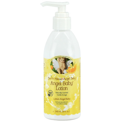 Earth Mama Angel Baby Lotion Natural Gentle Vanilla Orange Scent
