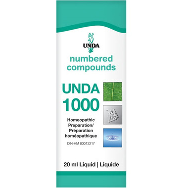 UNDA Numbered Compounds UNDA 1000 Homeopathic Preparation