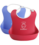 BabyBjorn Soft Bibs Blue & Red
