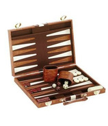 Backgammon Set - Brown & White