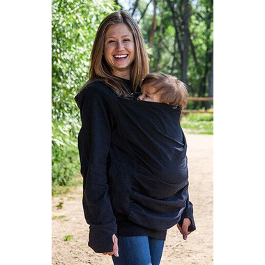 Boba Baby Carrier Cover Hoodie Black