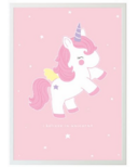A Little Lovely Company Unicorn Poster