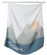 Lulujo Baby I Will Move Mountains Milestone Blanket & Cards