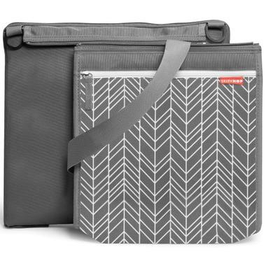 Skip Hop Central Park Outdoor Blanket & Cooler Bag Grey Feather