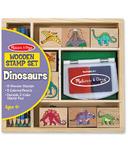 Melissa & Doug Wooden Stamp Set Dinosaurs