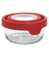 Anchor TrueSeal 2 Cup Round Storage Container with Red Lid