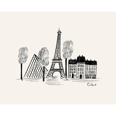Rifle Paper Co. Paris Sketch 8x10 Art Print