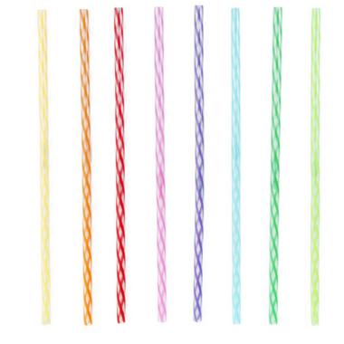 Kikkerland Rainbow Reusable Straws