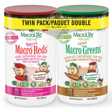 MacroLife Naturals Jr. Twin Pack for Kids