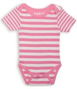 Juddlies Short Sleeve Bodysuit Sachet Pink Stripe