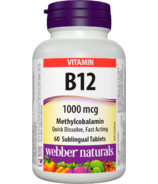 Webber Naturals B12 Sublingual Tablets Methylcobalamin