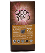Giddy Yoyo Organic Raw Chaga 79% Dark Chocolate Bar