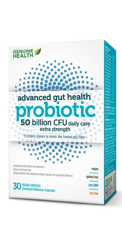 Genuine Health Advanced Gut Health Probiotic 50 Billion CFUs