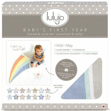 Lulujo Baby\'s First Year Blanket and Cards Set