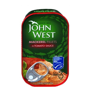 John West Mackerel Fillets In Tomato Sauce