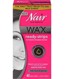 Nair Hair Remover Wax Ready-Strips for Face & Bikini