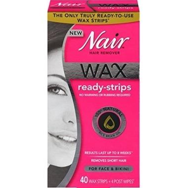 Nair Hair Remover Wax Ready-Strips for Face & Bikini