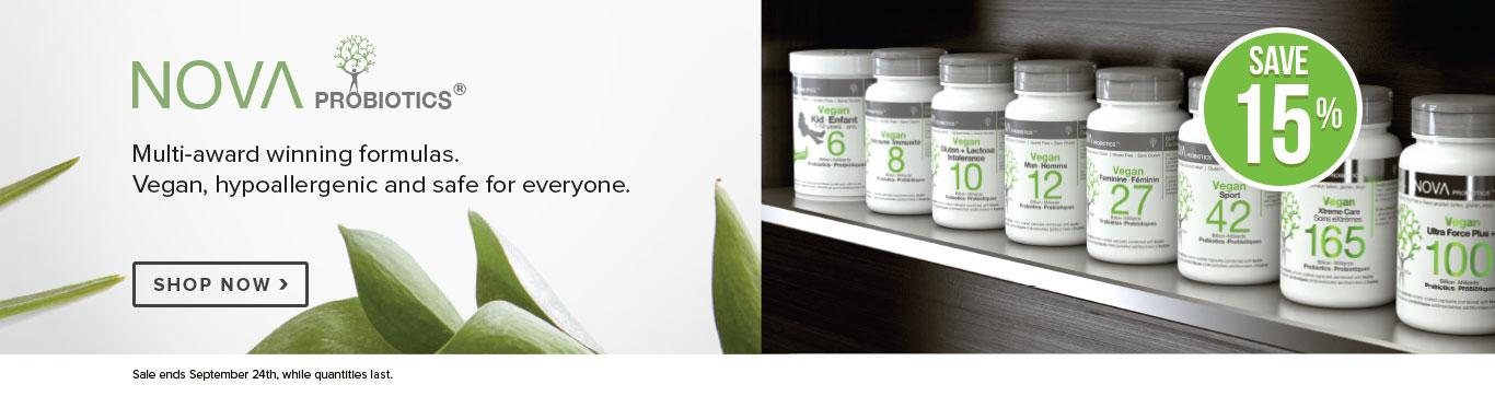 Save 15% on Nova Probiotics