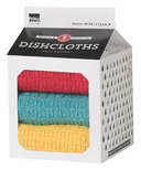 Now Designs Milk Carton Dishcloth Set Lemon, Turquoise & Grenadine