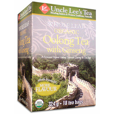 Uncle Lee\'s Whole Leaf Organic Oolong Tea with Ginseng