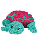 Hugglehounds Plush Durable Rubber Ruff-Tex Turtle Magenta/Green Dog Toy