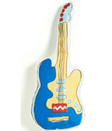 Keep Leaf Playful Pillows Guitar Blue