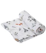 Little Unicorn Cotton Muslin Swaddle Blanket Forest Friends