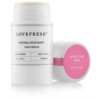 Lovefresh Moroccan Rose Natural Cream Deodorant Stick
