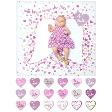 Lulujo Deluxe Edition Baby\'s First Year Blanket & Cards Set