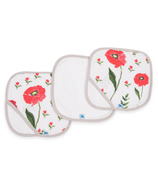 Little Unicorn Cotton Wash Cloth Set Summer Poppy