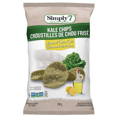 Simply7 Kale Chips Olive Oil Lemon