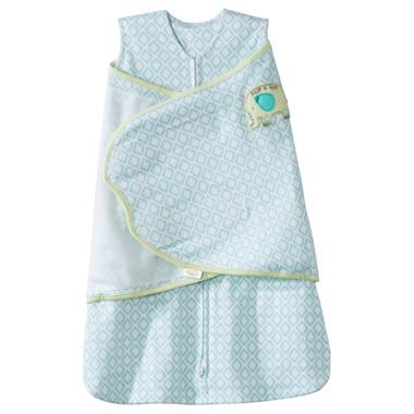 Halo 100% Cotton SleepSack Swaddle Blue Diamond & Elephant