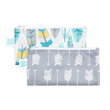 Bumkins Reusable Snack Bag Small Arrows and Feathers