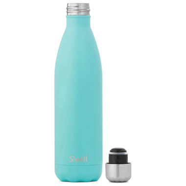 S\'well Satin Collection Stainless Steel Water Bottle Turquoise Blue
