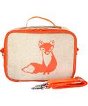 SoYoung Raw Linen Orange Fox Lunch Box