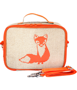 SoYoung Raw Linen Orange Fox Lunch Box